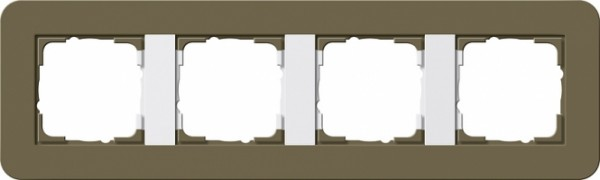GIRA 0214416 Abdeckrahmen E3 Umbra/Reinweiß 4-fach