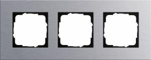 GIRA 021317 Esprit Abdeckrahmen Aluminium 3-fach