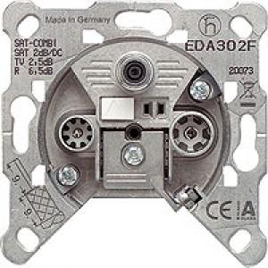 JUNG EDA302F Antennendose 3-Loch Einzeldose
