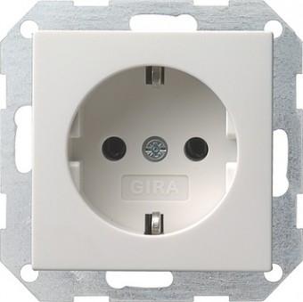 Gira 018803 Schuko Steckdose Standard System 55 reinweiß glänzend