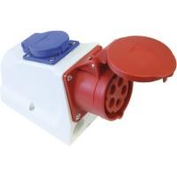 SIROX® CEE-Kombi-Wanddose IP 44, 5-polig, 400 V, 6 h 32 A*