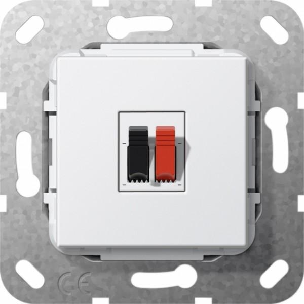 GIRA 569203 Einsatz Lautsprecher-Anschluss 1fach Reinweiß glänzend
