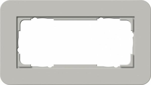 GIRA 1002412 Abdeckrahmen E3 ohne Mittelsteg 2fach Grau/Reinweiß 2-fach ohne Mittelsteg
