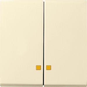 Gira 063101 Serienwippen mit Kontroll-Fe nster für Serien-Kontrollschalter Cremeweiß glänzend