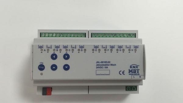 AMS-0816.02 Schaltaktor 8-fach, 8TE, REG, 16A, 230VAC, C-Last, Standard, 140µF, mit Strommessung