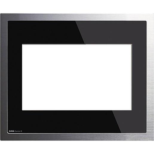 Gira 209005 Abdeckung Control 19 KNX EIB Glas Schwarz Alu