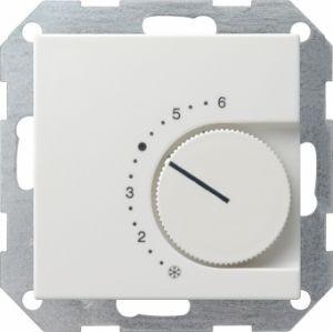 Gira 039027 Raumtemperatur Regler komplett mit Öffner. Reinweiß seidenmatt
