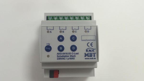 MDT AKK-0416.02 Schaltaktor 4fach 2TE REG 10A 230VAC FanCoil