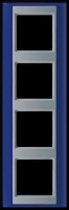 Jung Abdeckrahmen 4-fach AP 584 BL AL blau-aluminium
