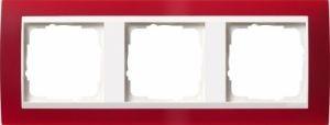 GIRA 0213398 Abdeckrahmen Event Opak Rot 3-fach