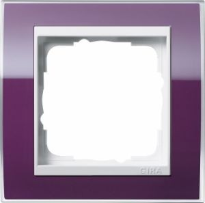 GIRA 0211753 Abdeckrahmen Event Klar Aubergine 1-fach