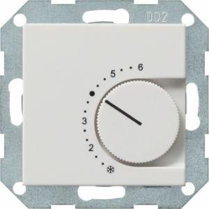 Gira 039627 Raumtemperatur Regler komplett mit Wechsler. Reinweiß seidenmatt