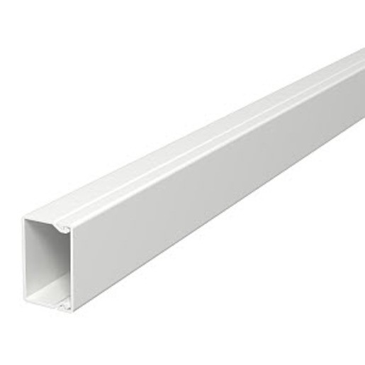 2 m OBO 40x40x2000 WDK40040RW, Wand- und Deckenkanal mit Bodenlochung , PVC, reinweiß, RAL 9010