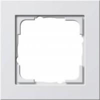 Gira 021129 Reinweiß glänzend Rahmen E2 1fach