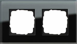 GIRA 021205 Esprit Abdeckrahmen Schwarz Glas 2-fach