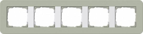 GIRA 0215415 Abdeckrahmen E3 Graugrün/Reinweiß 5-fach