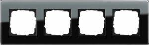GIRA 0214505 Esprit Abdeckrahmen Schwarz Glas C 4-fach