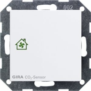 GIRA 238103 Raumluft-Sensor CO2 Reinweiß glänzend