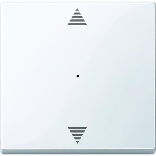 Merten MEG5215-0325 System M Wippe für Taster-Modul 1-fach (Pfeile Auf/Ab) aktivweiß glänzend