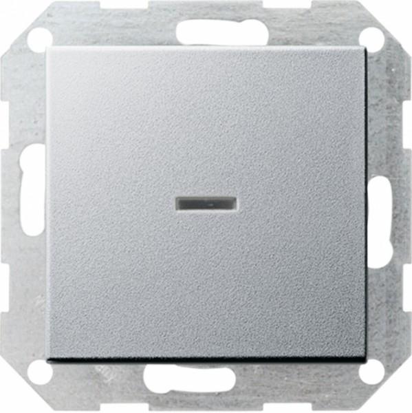 Gira 013626 Tastkontrollschalter komplet t mit Wippe fuer Universal Aus Wechselsc Alu