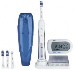 BRAUN Zahnbürste 5000 mit Smartguide TriZone weiß-blau ABA