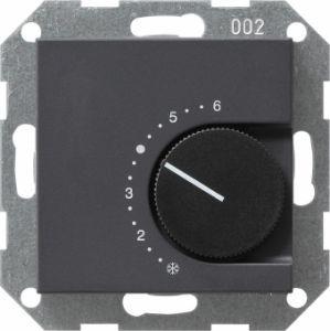 Gira 039028 Raumtemperatur Regler komplett mit Öffner. Anthrazit