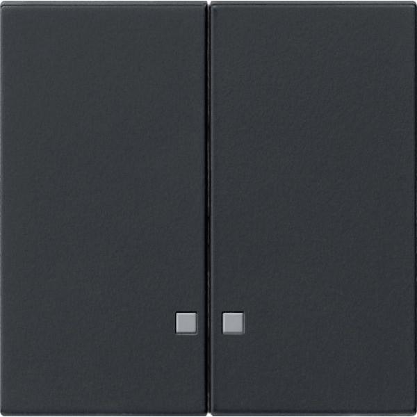 Gira 0631005 System 55 Serienkontrollwippe für Kontrollschalter Schwarz matt