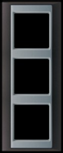 Jung Abdeckrahmen 3-fach 93x231 mmAP 583 ANT AL anthrazit-aluminium
