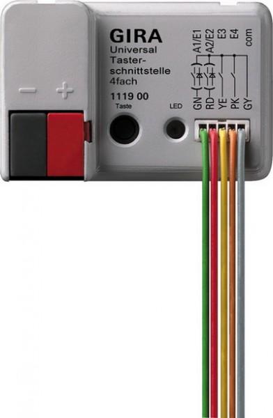 Gira 111900 KNX EIB Universal- Taster- Schnittstelle 4fach