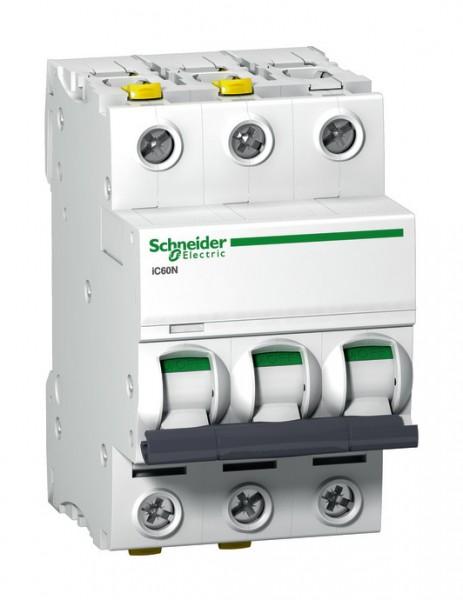 Schneider A9F03316 Leitungsschutzschalter iC60N 3p 16A B Charakteristik