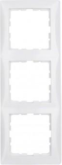 BERKER 10138989 Rahmen S.1, Polarweiß glänzend 3-fach