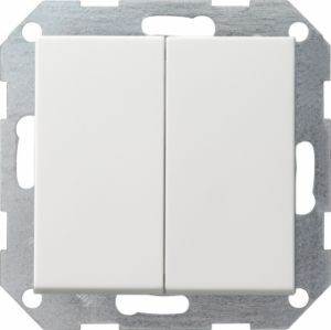 Gira 012527 Tastschalter komplett mit Serienwippen fuer Serienschalter Reinweiß seidenmatt