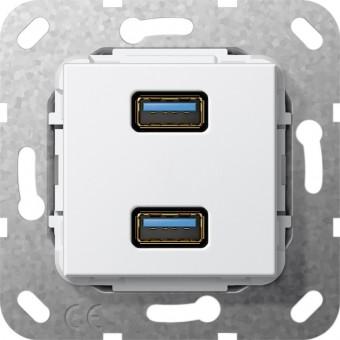 GIRA 568403 Einsatz USB 3.0 Typ A 2fach Reinweiß glänzend
