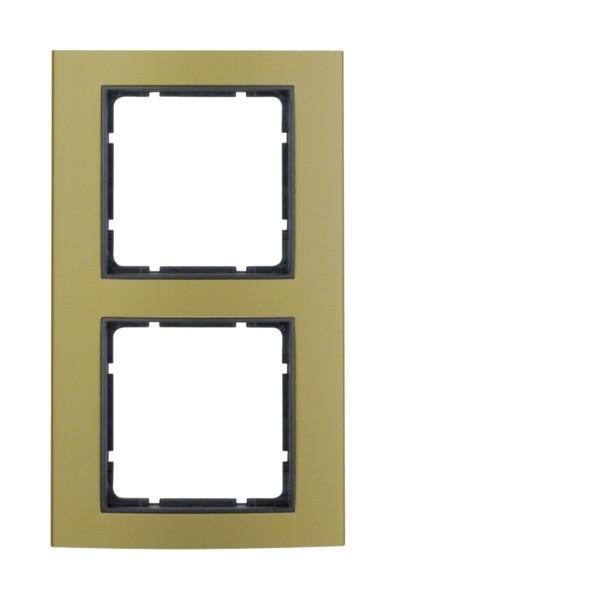 Berker 10123016 B.3 Rahmen 2-fach Alu gold/anthrazit