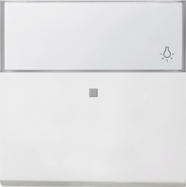 GIRA 0670112 Wippe mit großem Beschriftungsfeld und Kontroll-Fenster Reinweiß glänzend