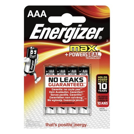Energizer Max Alkaline AAA / Micro / LR03 4er ,LR03