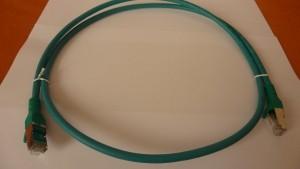 Patchkabel Cat.6A AWG 26 0.5 m grün