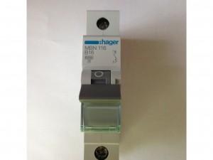 Hager Einbauautomat 1-polig B16 MBN116