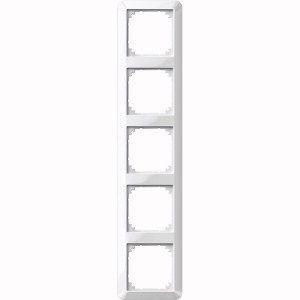 MERTEN 389519 1-M-Rahmen, Polarweiß glänzend 5-fach