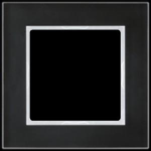 JUNG AC581GLSW A creation Glasrahmen, schwarz 1fach