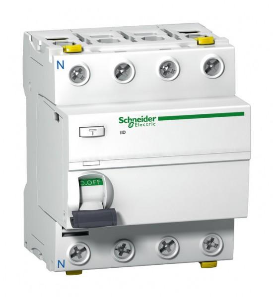 Schneider A9Z21440 Fehlerstrom-Schutzschalter iID 4p 40A 30mA Typ A