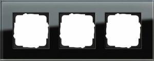 GIRA 021305 Esprit Abdeckrahmen Schwarz Glas 3-fach