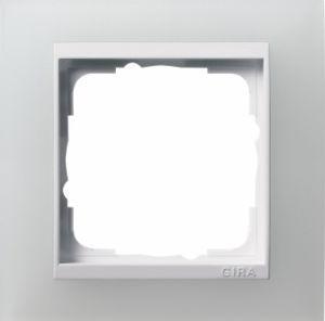 GIRA 0211334 Abdeckrahmen Event Opak Weiß 1-fach