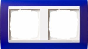 GIRA 0212399 Abdeckrahmen Event Opak Blau 2-fach