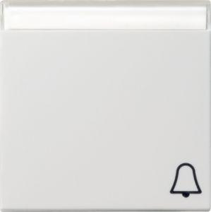 Gira 067303 Wippe mit Symbol Klingel und Beschriftungsfeld fuer Wipptaster Reinweiß glänzend