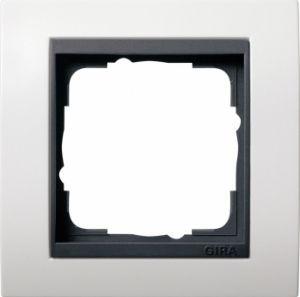 GIRA 0211808 Abdeckrahmen Reinweiß glänzend 1-fach