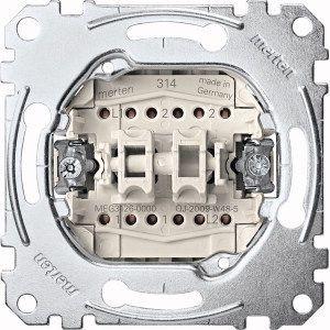 MERTEN MEG3126-0000 Doppelwechselschalter-Einsatz, 1-polig