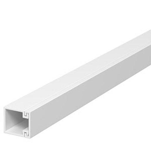 2 m OBO 15x15x2000 WDK15015RW, Wand- und Deckenkanal mit Bodenlochung PVC, reinweiß, RAL 9010