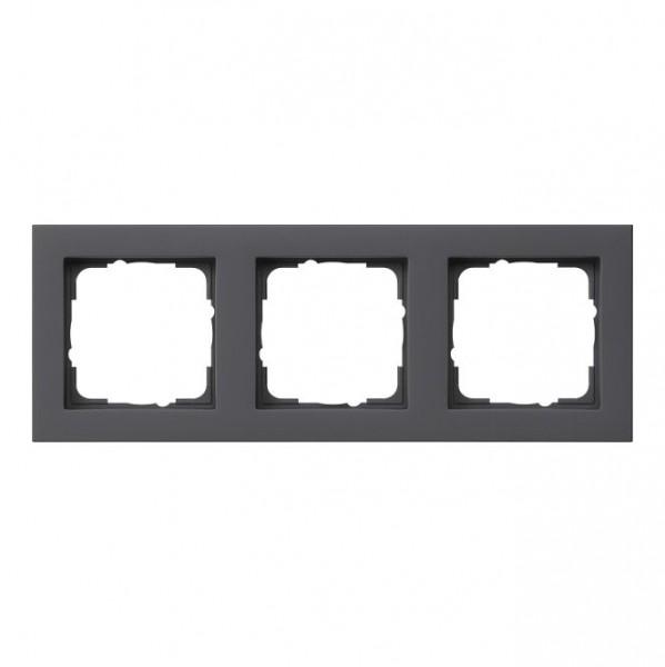 GIRA 021309 Abdeckrahmen E2 schwarz matt 3-fach