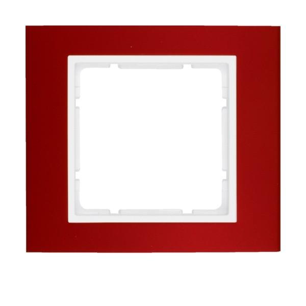 Berker 10113022 B.3 Rahmen 1-fach Alu rot/polarweiß